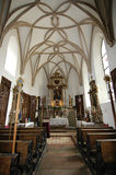 Church Indoors. The inside of a small chapel in the Czech Republic stock image