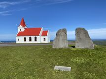 Church at Snaefellsnes peninsula in Iceland.