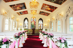 Church inside. Royalty Free Stock Photography