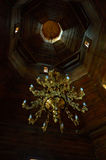 Church inside Baturin Chandelier Royalty Free Stock Photos