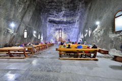 Church inside the Praid salt mine from Transylvania. Picture taken on: August 28th, 2015 at Praid, Romania Royalty Free Stock Image