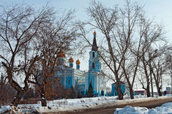 Church of the Intercession. City Kamensk-Uralsky, Russia Royalty Free Stock Photography