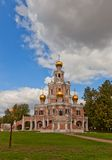 Church of the Intercession at Fili (1694) in Moscow, Russia Royalty Free Stock Photos