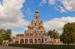 Church of the Intercession at Fili (1694) in Moscow, Russia Stock Photography