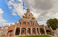 Church of the Intercession at Fili (1694) in Moscow, Russia Stock Image
