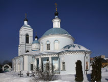 Church of Intercession of Holy Virgin in Chomutovo. Shchyolkovo. Russia Stock Photography