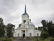 Church of the Intercession of the Holy Virgin in Gorodets. Nizhny Novgorod Oblast. Russia Stock Image