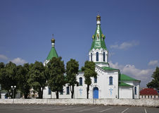 Church of intercession of Holy Virgin in Maladzyechna. Belarus Stock Images