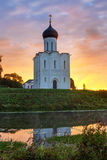 The Church of the Intercession of the Holy Virgin on the Nerl Ri Stock Images