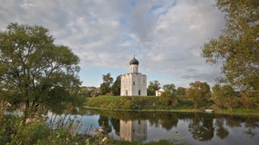 Church of the Intercession of the Holy Virgin on the Nerl River stock footage