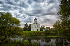 Church of the Intercession of the Holy Virgin on the Nerl River Royalty Free Stock Photo