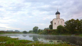 Church of Intercession of Holy Virgin on Nerl River, Bogolubovo stock video footage