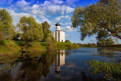 Church of the Intercession of the Holy Virgin on Nerl River Royalty Free Stock Images