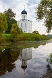 Church of Intercession of Holy Virgin on the Nerl River early in Royalty Free Stock Image