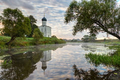 Church of Intercession of Holy Virgin on the Nerl River early in Royalty Free Stock Photo