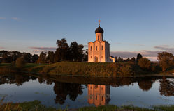 Church of the Intercession of the Holy Virgin on the Nerl River Royalty Free Stock Image