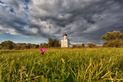 Church of the Intercession of the Holy Virgin on the Nerl River Royalty Free Stock Photography