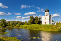 Church Intercession of Holy Virgin on Nerl River. Russia Royalty Free Stock Images