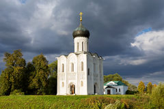 Church Intercession of Holy Virgin on Nerl River. Russia Royalty Free Stock Photography