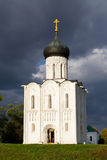 Church Intercession of Holy Virgin on Nerl River. Russia Stock Images