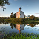 Church Intercession of Holy Virgin on Nerl River. Russia Stock Photos