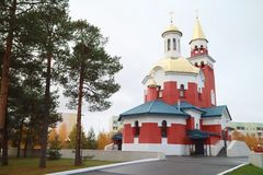 The Church of the Intercession of the Mother of God Stock Image