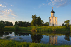 Church of the Intercession on the Nerl Royalty Free Stock Images