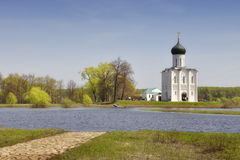 Church of the Intercession on the Nerl Stock Image