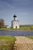 Church of the Intercession on the Nerl Stock Images
