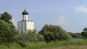 Church of the Intercession on the Nerl stock video footage