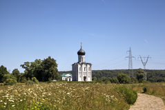 Church of the Intercession on the Nerl. Stock Photo