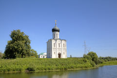 Church of the Intercession on the Nerl. Royalty Free Stock Photo