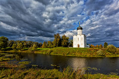 Church of the Intercession on the Nerl Royalty Free Stock Image