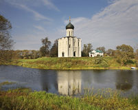 Church of the Intercession on the Nerl near  Bogolyubovo. Vladimir oblast. Russia Stock Image