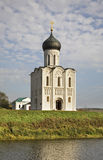 Church of the Intercession on the Nerl near  Bogolyubovo. Vladimir oblast. Russia Royalty Free Stock Photography