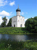 Church of Intercession upon Nerl River Stock Photo