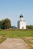 Church of Intercession upon Nerl River. Royalty Free Stock Photography