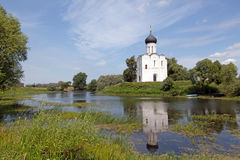 Church of Intercession upon Nerl River Royalty Free Stock Images