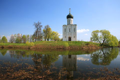 Church of Intercession upon Nerl River. (Bogolubovo, Vladimir region, Golden Ring of Russia) Inscribed in the Wold Heritage List of UNESCO Royalty Free Stock Photo