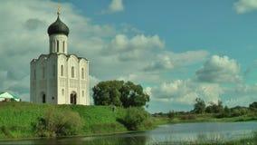 Church of Intercession on Nerl River. Bogolyubovo stock footage