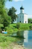 Church of Intercession on Nerl River. Bogolyubovo Royalty Free Stock Photo
