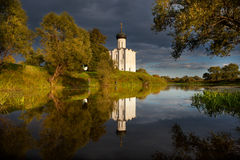 Church of Intercession upon Nerl River Royalty Free Stock Photography
