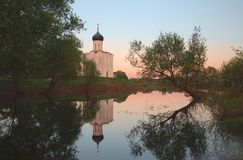 Church of Intercession on the Nerl River Royalty Free Stock Photos