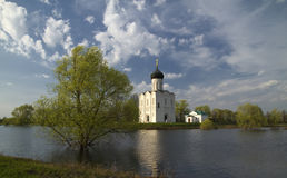 Church of Intercession upon Nerl River Royalty Free Stock Photo