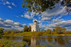 Church of Intercession upon Nerl River Stock Image