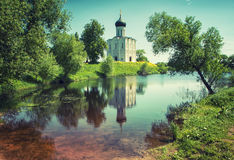 Church Intercession on Nerl River Royalty Free Stock Photo