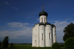 Church of the Intercession on the Nerl. Russia Stock Images