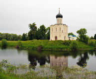 Church of the Intercession on the Nerl Stock Photography