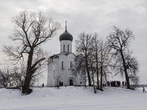Church of the Intercession on the Nerl Royalty Free Stock Photos