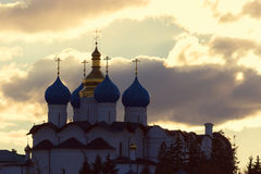 Church of Intercession. On the River Kazanka in dawn Royalty Free Stock Image